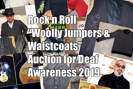 Rock N Roll Woolly Jumpers & Waistcoats Auction For Deaf Awareness 2019